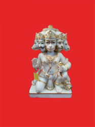 Panchmukhi Hanuman Marble Idol