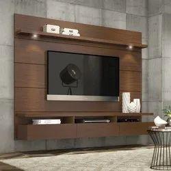 Wall Mounted Designer Plywood TV Unit
