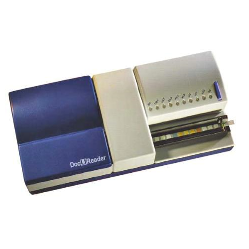 Entry Level Semiautomatic Urine strip-DocU Reader, Size 250 x 120 x 70 mm