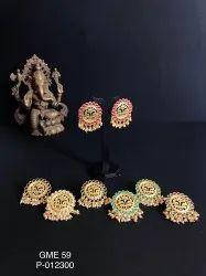 Artificial Golden Matte Earrings GME 59