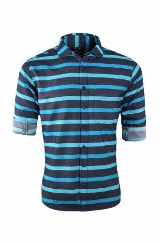 dec3abb7380cd Urban Design Casual Shirts - Double Colour Striped Casual Shirt  Manufacturer from Chennai