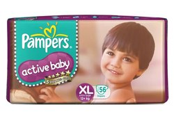 Pampers Active Baby Diapers Xl-56