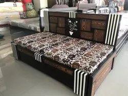 Wood Sofa Cum Bed, Size: 6/6