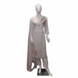 Stitched Ladies Designer Rayon Palazzo Suit, Machine wash