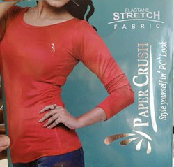 Paper crush Ladies Full Sleeves Round Neck T Shirt