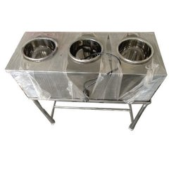 Stainless Steel Round Container Bain Marie, For Curry