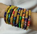 Ethnic Fancy Wear Charming Cloth Wrapped Bangles