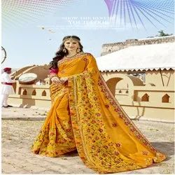 New Wedding Wear Designer Silk Saree, 5.5 Mtr