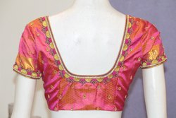 Pink Embroidered Bridal Blouse