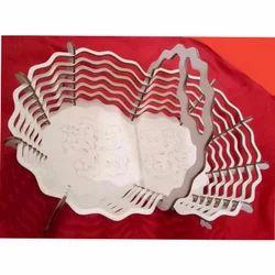 White Decorative Wooden Basket