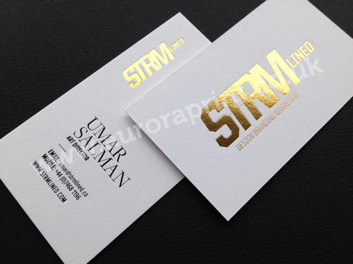Gold Foil Visiting Card Printing Service Dimension Size