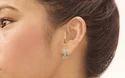Spring Cuff Cubic Zirconia Brass Hoop Earring