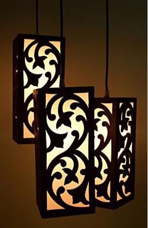 MDF Designer Hanging Beautiful Lamp