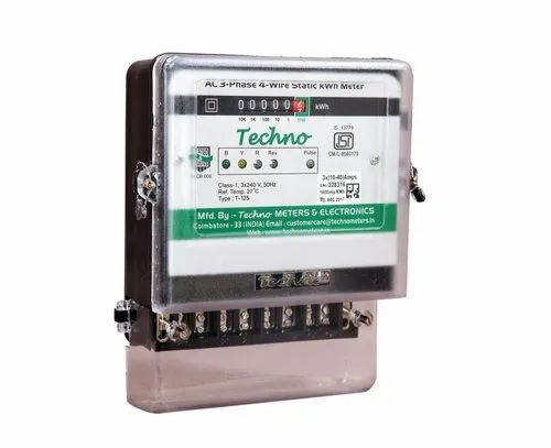 Three Phase Domestic Energy Meter With Counter Display At