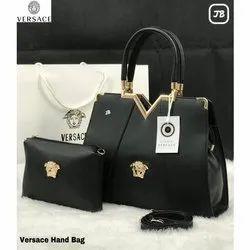 Versace Ladies PU Leather Hand Bag