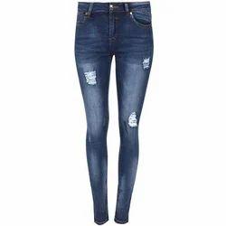 Female Ladies Denim Jeans, Waist Size: 26 - 36 Cm