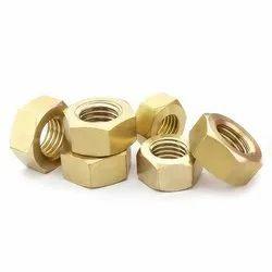 Brahma Hexagonal Brass Nuts, Size: M4 To M24