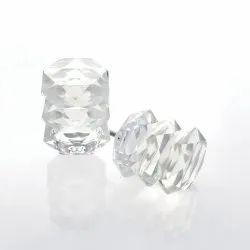 Set of 2 Multi Oval Lead Crystal Finial