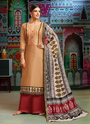 Regular Wear Chanderi Palazzo Suit