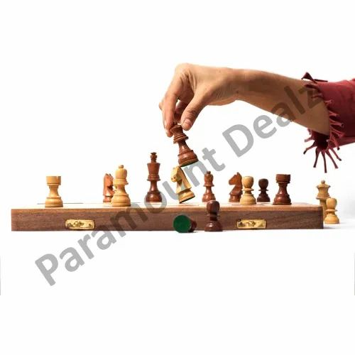 16 Inches Wooden Sheesham And Maple Chess Board