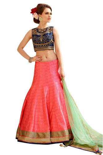 71d8291c4b1b4 Semi-Stitched Embroidery Lehenga Choli