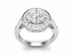 Round Solitaire Platinum Plating Bridal Ring