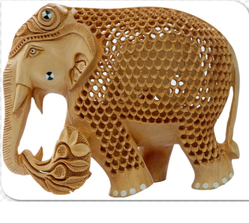 Sandalwood Elephant Figurine