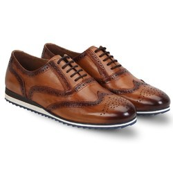 bac1cf879e4 Brune Grey Leather Brogue Shoes