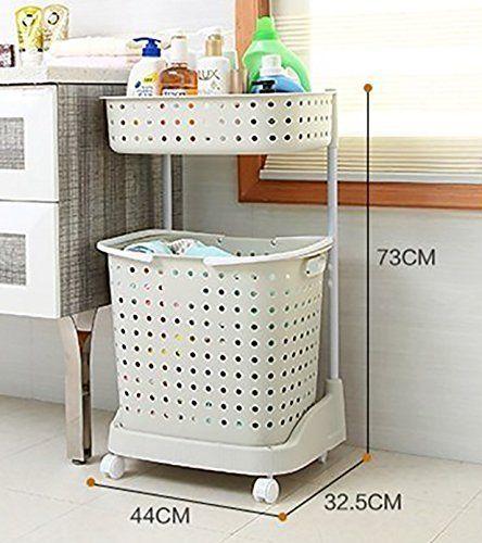 2 Tier Laundry Basket Trolley