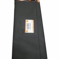 Plain Srishti Black Cotton Suiting Fabric, GSM: 100-150
