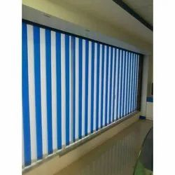 White Fabric Vertical Blinds