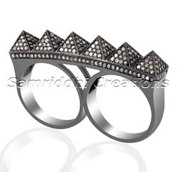 Prism Two Finger Ring