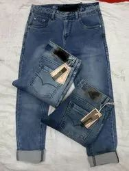 Regular Fit Faded Denim Jeans