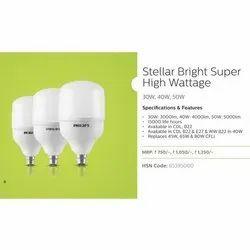 Chrome Round Philips Stellar Bright Super High LED Bulb