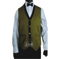 LORDS Blended Waist Coat For Waiter Waitress & Party Wear, Size: 36 38 40 42 44 (+Rs 50.00 beyond 44)