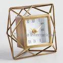 Iron Metal Decorative Desk Clock