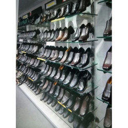 Glass Shoe Display Rack
