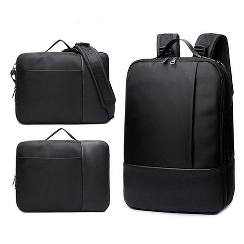Korbel Plain Black Convertible Backpack a657bf1bbb46f