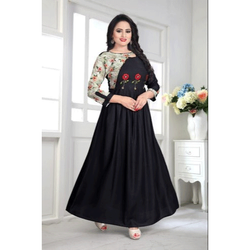 Party wear Ladies Designer Rayon Anarkali Kurti