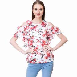 Ladies Cotton Designer Printed Top