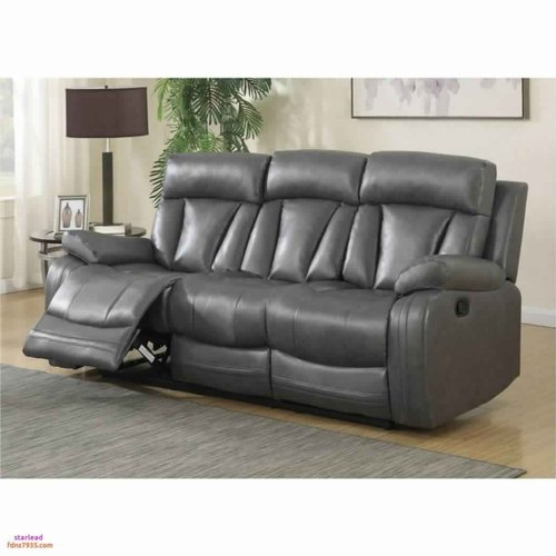 Grey 3 Seater Three Seater Leather Recliner Sofa Set Rs 60000 Set