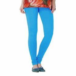 Ladies Sky Blue Churidar Leggings, Size: Medium And Large