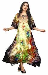 3D Digital Printed Ladies Casual Daily Wear Kurtas Kaftans
