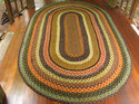 Floor Braided Rugs, Size: 4x8 Feet
