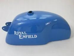 New Royal Enfield Cafe Racer Blue Painted 4 Gallon Petrol Tank (Reproduction)
