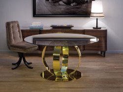 Glass Top Table Along With Chair