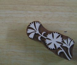 Flower Vine Pattern Wooden Printing Blocks