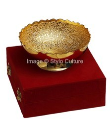 Brass Gold Plated Dinnerware with Box for Gift