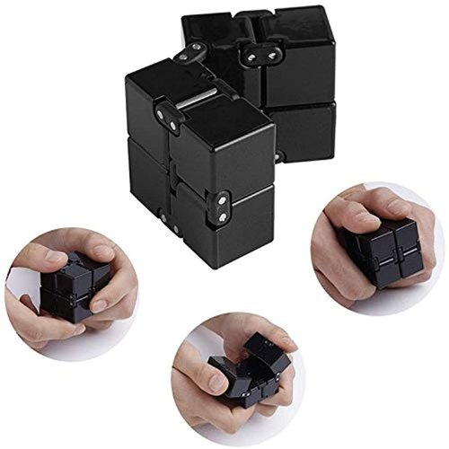 Bihood Infinity Cube Fidget Toy Hand Killing Time Prime Infinite Cube For ADD ADHD Anxiety and Autism Adult and Children 3D Cube