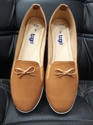 PVC Brown Casual Loafer Shoes, Size: 3 to 8